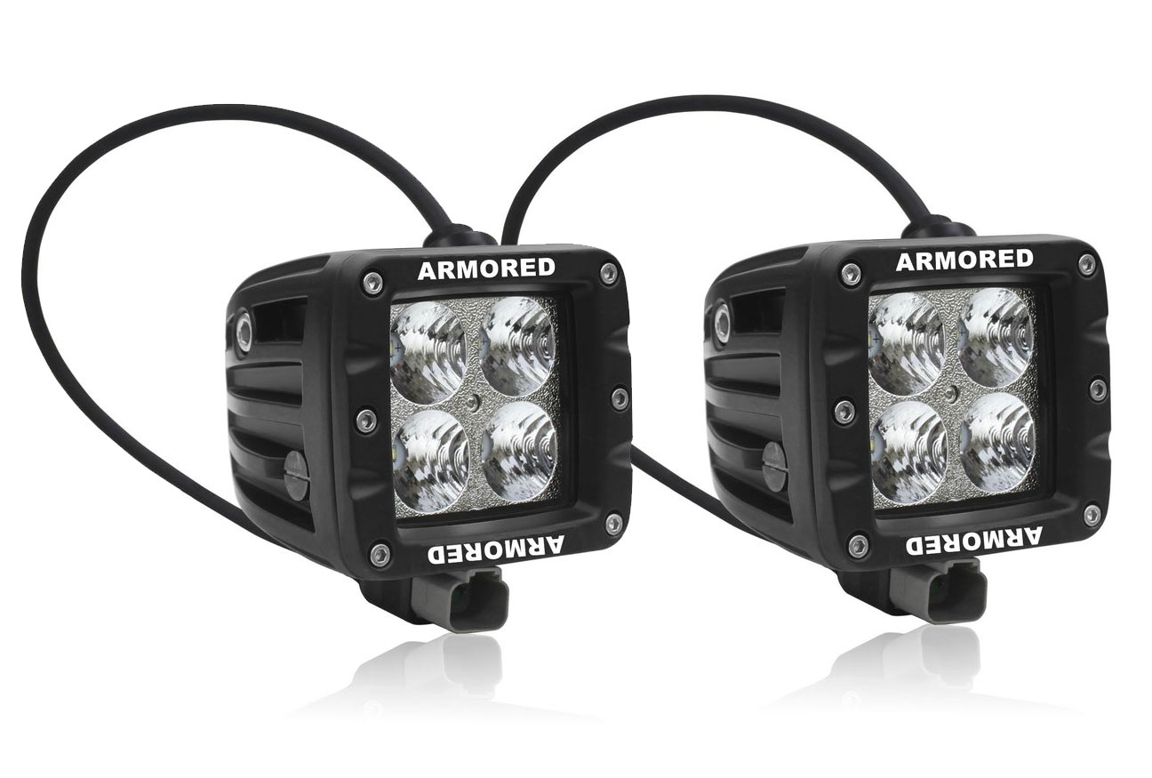 P-Series Flood Beam (40W) PAIR - AMBER