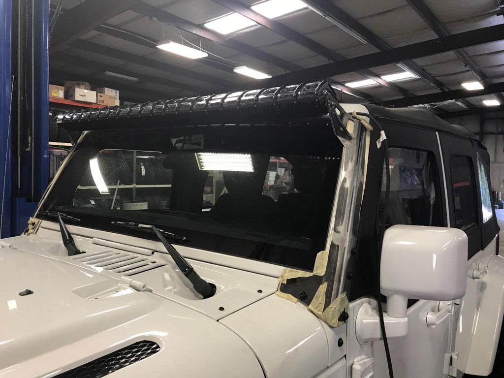 07 17 jk windshield light bar brackets for rigid adapt light aloadofball Choice Image
