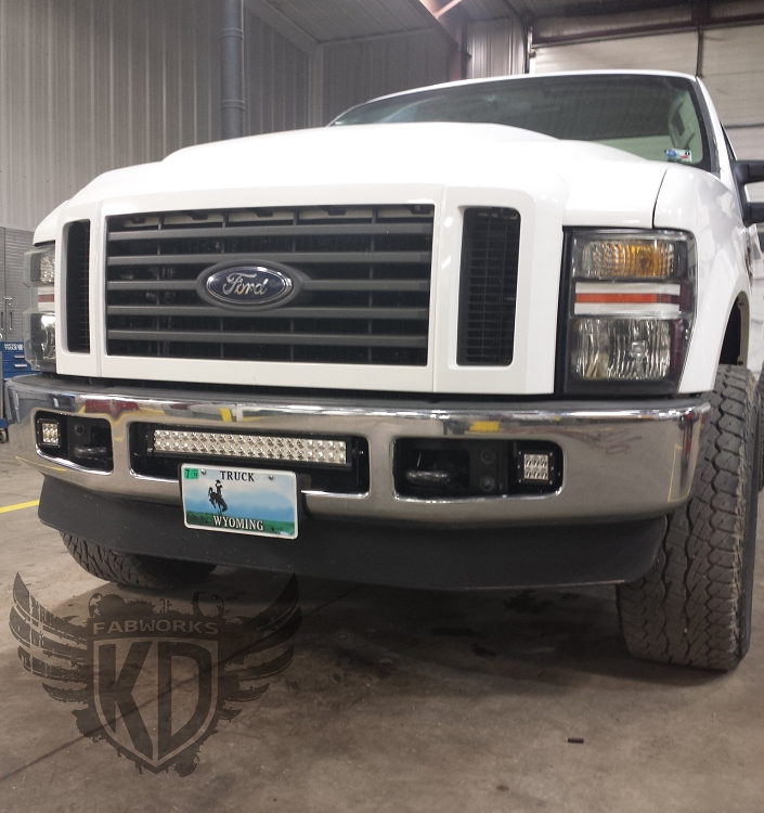 Bumper brackets for 20 led light bars 08 10 ford superduty f250 f350 aloadofball