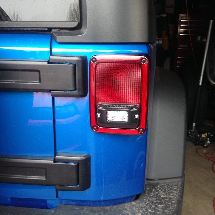 Rigid Industries SRM Flush Mount into Jeep Wrangler JK Taillights