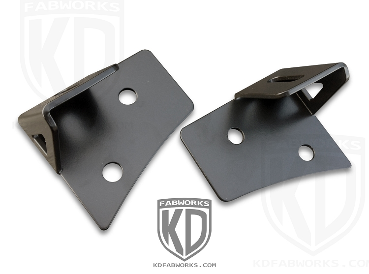 07-16 JK Lower A-Pillar Light Mounts