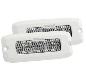 SR-Q Series Pro Flood Diffused Flush Mount - PAIR (WHITE)