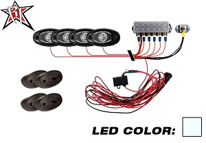 A-Series PRO Rock Light Kit - 4 Lights (Cool White)