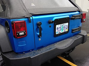 10-17 Jeep JK Tire Carrier Delete with License Plate Mount